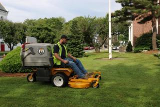 WM Tractor mowing grass