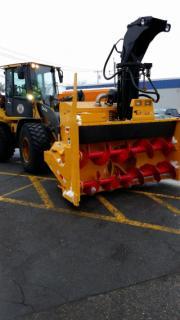 Large yellow snowplow