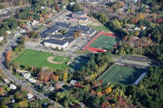 aerial view of Wakefield High fields