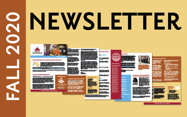 Fall 2020 newsletter with thumbnails of pages